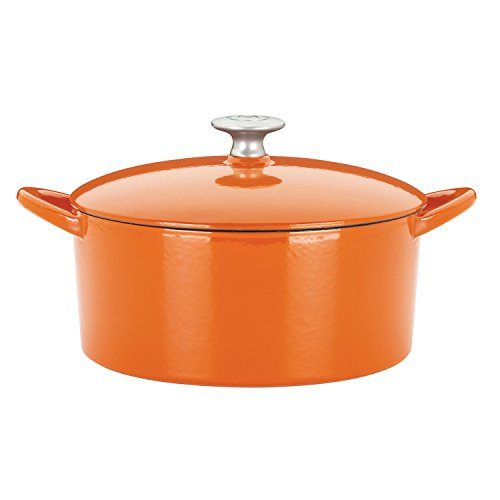 Mario Batali 826788 Enameled Cast Iron 2-Cup Dutch Oven, Mini, Persimmon