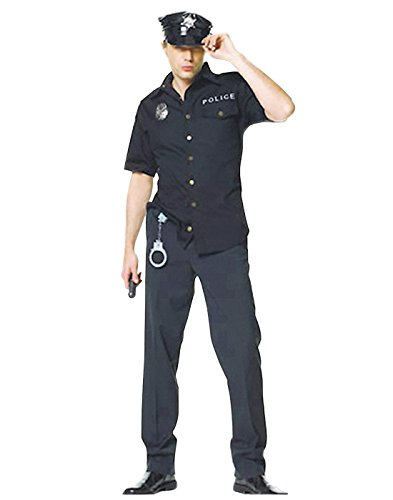 HDE Cop Police Man Law Enforcement Patrol Officer Uniform Halloween Costume