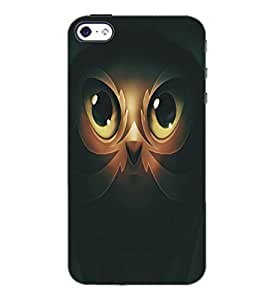 PrintDhaba Owl Man D-5365 Back Case Cover for APPLE IPHONE 4S (Multi-Coloured)