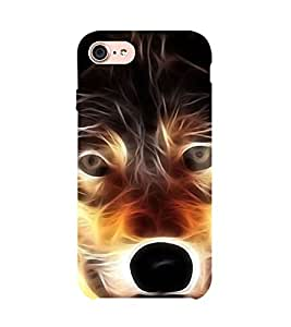 Angry Wolf 3D Hard Polycarbonate Designer Back Case Cover for Apple iPhone 7