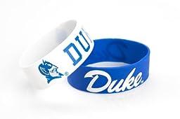 NCAA Duke Blue Devils Silicone Rubber Bracelet Set, 2-Pack