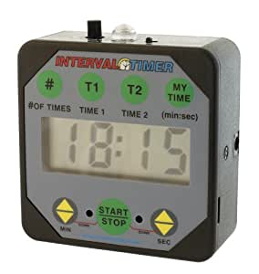 Interval Workout Timer TMR05-B Black with volume control: Boxing, Wrestling, Martial Arts, MMA, HIIT, Endurance, Strength, Fitness