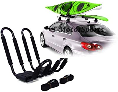 TMS KAYAK-RK-J(1BOX) Universal Roof J Rack Kayak Boat Canoe Surf Ski Car Top Carrier