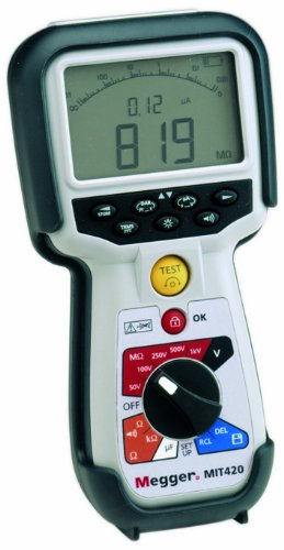 Megger Mit430-En Insulation Tester, 200 Gigaohms Resistance, 50V, 100V, 250V, 500V, 1000V Test Voltage