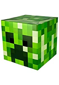 Toy Game Officially Licensed Minecraft Creeper Head High Quality Cardboard Mask 12 Inches By 12 Inches from 4KIDS