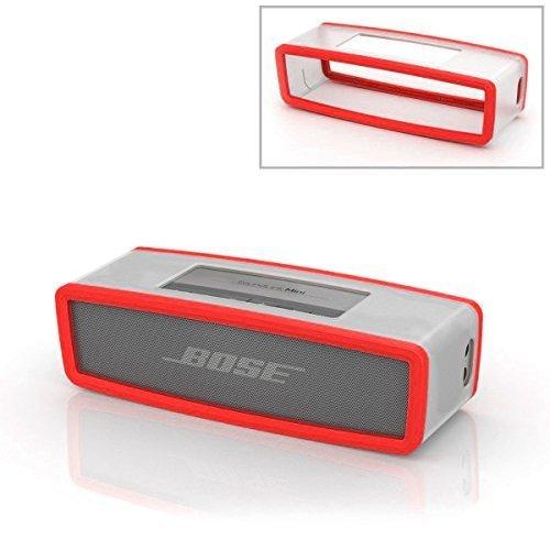 Rosso morbida protettivo Custodia Borsa Cover Box Silicone Carry Case Bag Per Bose Soundlink Mini Bluetooth Speaker Altoparlante PC647