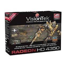 Visiontek RADEON HD4350 PCIE 512MB DDR2 2PORT DVI RETAIL ATi Radeon HD 4350 - 512MB DDR2 SDRAM 64bit - PCI Express x16