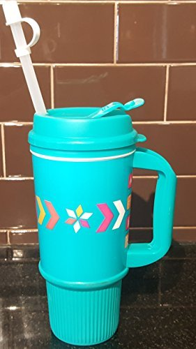 dunkin-donuts-travel-mug-24ozteal-with-straw-for-hot-cold-beverages-by-dunkin-donuts