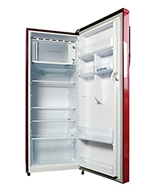 Haier HRD-2406BR-H Direct-cool Single-door Refrigerator (220 Ltrs, 5 Star Rating, Brushed Red)
