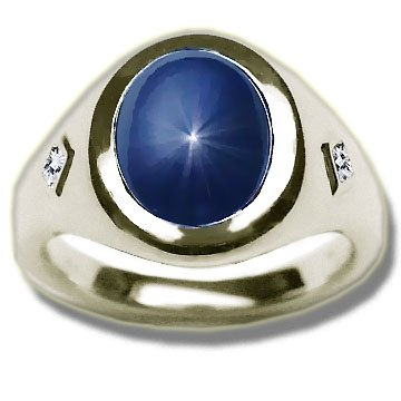 Click to buy Diffused Star Sapphire Men's Ring from Amazon!