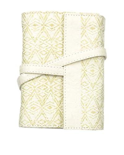 Marina Vaptzarov Small Printed Vegetal Leather Cover Travel Diary, White