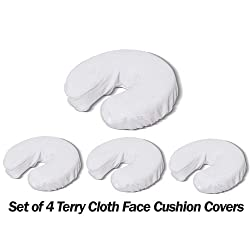 Royal Massage Set of 4 Terry Cloth Fitted Face Cradle Covers