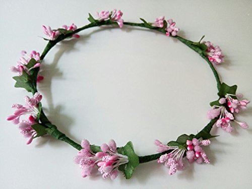 Simple Handmade DIY Artificial Berry Garland Hippie Bridal Hairband Wedding Flower Girl Halo Headband Floral Circlet Fairy Garland Hippy Hair Accessories 10pcs snow white sofia hrief princess anna elsa hair accessories cute kids bb hair clips flower crown rim hair bows 5