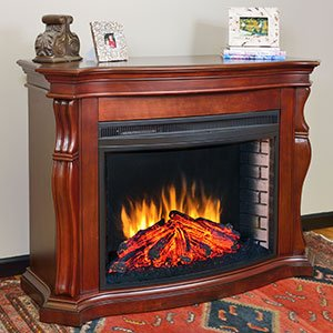 Cherry Electric Fireplace Mantel Package - MEFC3317BCH - Space Heaters