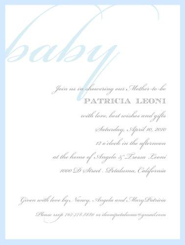 Baby Shower Invite - Classic