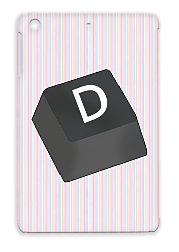 Black D Button For Ipad Mini Board Symbols Shapes Button Key Computer Pad Icons Keyboard D Tpu Scratch-Free Protective Hard Case