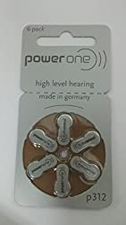 POWERONE POWER ONE P312 P 312 HEARING AID BATTERY 6X10 60 Pcs