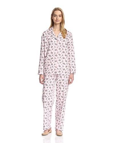 Aegean Apparel Women's Penguin Print Flannel Pajama Set
