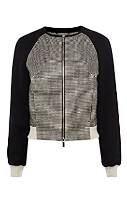 Graphic Black And White Tweed Jacket