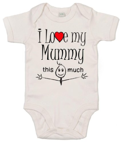 "IiE - Tutina ""I love my mummy this much"", unisex"