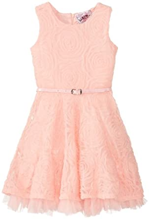 Beautees Girls 2-6X Skater Dress, Sorbet, 4