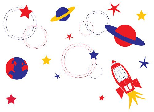 Graphique Home Decal, Blast Off!