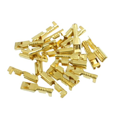 Amico 20 Pcs Female Spade Cable Wire Terminals For 2.8Mm Connectors