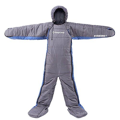 Kingcamp® Standing L Sleeping Bag - Free Walker Design, 3-Season Camping/Trekking/Festival Sleeping...
