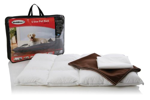 Bindaboo B2458 5 Star Pet Bed, Chocolate With Sandstone Trim, Large front-525009