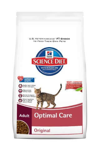 Hill's Science Diet Adult Optimal Care Original Dry Cat Food, 17.5-Pound Bag