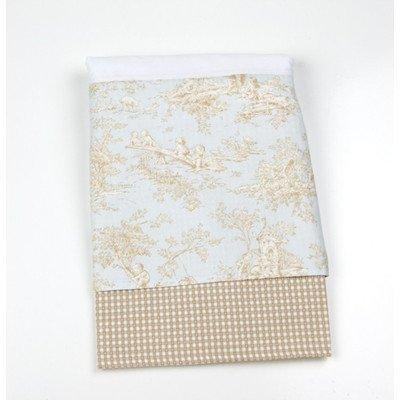 "Glenna Jean Central Park Crib Skirt, Blue/Chocolate/Tan/White, 14"" - 1"