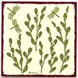 PUSSY WILLOW TILE, PUSSY WILLOW WALL PLAQUE,TRIVET-BB-10 by Besheer Art Tile, Bedford New Hampshire. U.S.A.