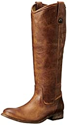 FRYE Women\'s Melissa Button Boot, Cognac Washed Antique Pull-Up, 9 M US