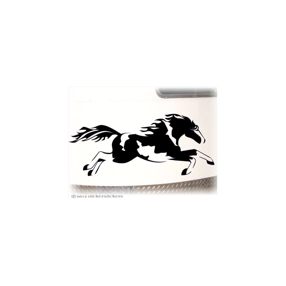 Galloping American Paint Horse Trailer Decal Sticker 10 x 23.5