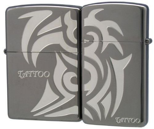 ZIPPO (Zippo) oil lighter NO200 NO1600 TATTOO pair black 63310298