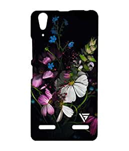 Vogueshell Beautiful Flower Printed Symmetry PRO Series Hard Back Case for Lenovo A6000