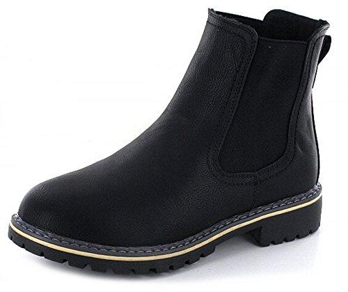 Pep Step1003013 - Stivali senza lacci Donna , Nero (Nero (nero)), 40.0