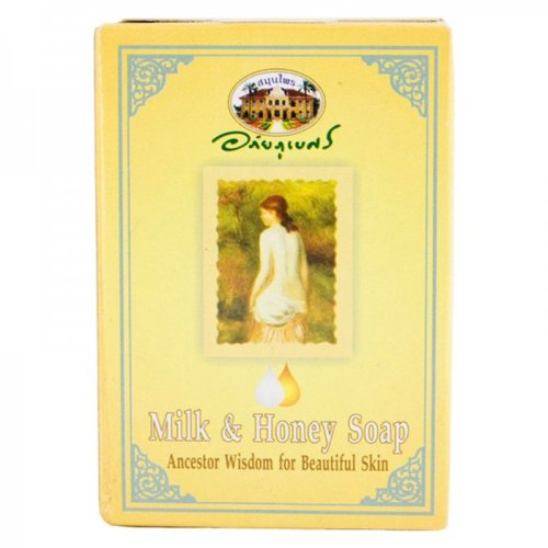 Abhaibhubejhr Milk & Honey Soap 100 G. Thailand Product