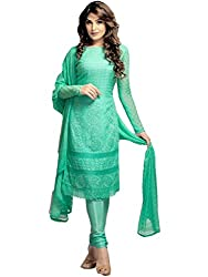 Dhruta Creation cotton Semi-stitched sky colors Dress materials for women (free_size)