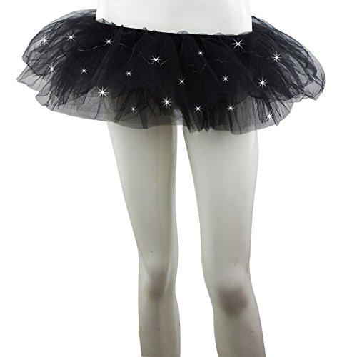 SMMER Women Led Light Up Neon Rainbow Ballet DanceTutu Skirt