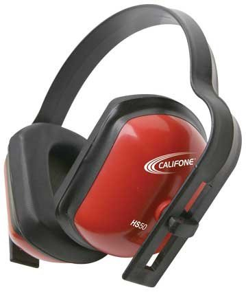 Califone Better Hearing Protectors, Bright Red Safety Color