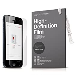elago High Definition Film for iPhone 5/5s; Contains Microfiber Cleaner and 2 Front Screen Protectors
