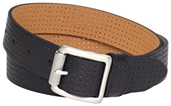 NIKE Women's Golf Perforated Belt with Roller Buckle (Black, Medium)