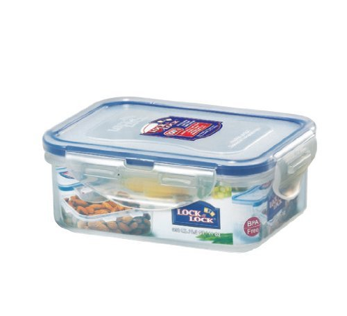 Lock&Lock 11.8-Fluid Ounce Rectangular Food Container, Short, 1-1/2-Cup