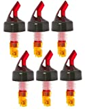(6 Pack) Orange Measured Bottle Pourer - Auto Measuring 1/2 oz.