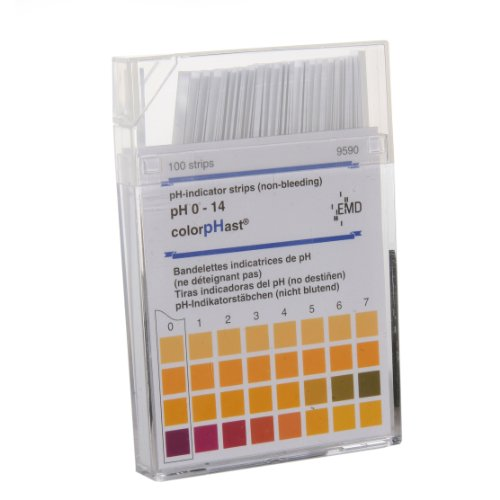 ColorpHast 9590-3 Test Strips, 0-14 pH (Box of 100)