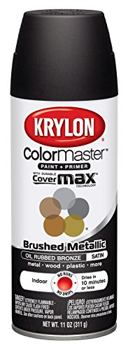Krylon K05125400 Brushed Metallic Aerosol Spray Paint, 11-Ounce, Oil Rubbed Bronze (Bronze Paint Can compare prices)