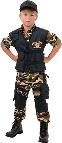 Morris Costumes Little Boys' Seal Team Teen, X-Large 14-16, Black