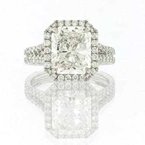 5.15ct Radiant Cut Diamond Engagement Anniversary Ring