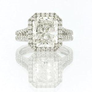5.15ct Radiant Cut Diamond Engagement Anniversary Ring